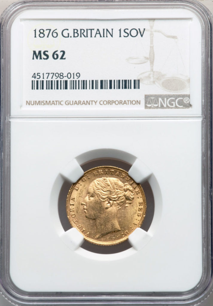 NGC鑑定 MS62】イギリス ビクトリア女王 ソブリン金貨 1876年 – Takumi ...